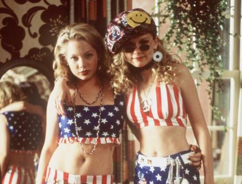 """In The Columbia Pictures/Phoenix Pictures Presentation, """"Dick,"""" Patriotic Teens Betsy (Kirsten Dunst, Right) And Arlene (Michelle Williams) Get Decked Out In Some Funky Threads To Change The Course Of History - Even If They Are Flunking It In School.  (Photo By Getty Images)"""